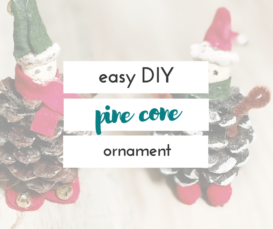 This easy DIY pine cone elf ornament is the perfect way for your kids to make something to hang on the tree. It was really simple, and so cute!