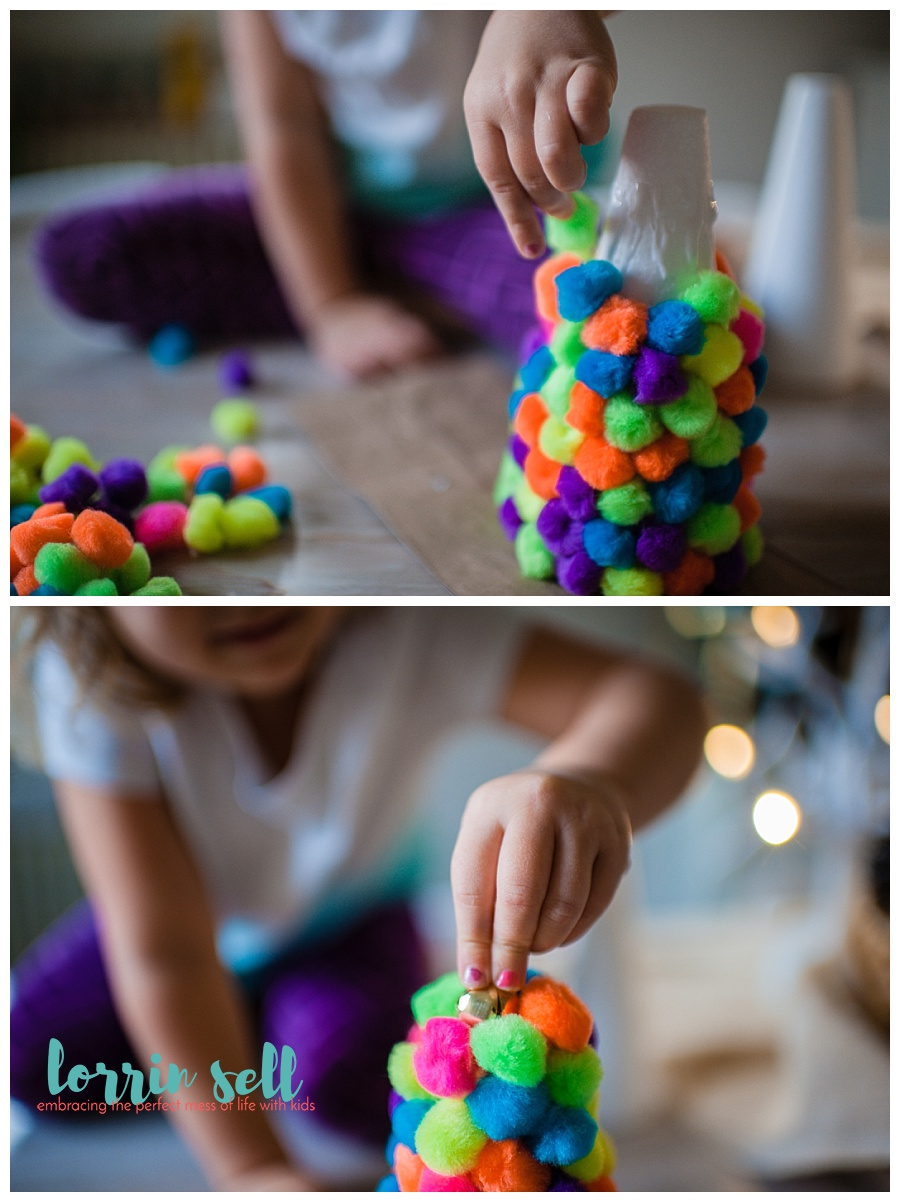 This is the cutest dollar store pom pom tree. It's super fun, and quick to make. It's a perfect craft to make with kids or on your own.