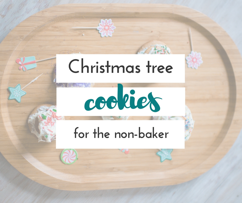 These sweet Christmas tree cookies are the perfect cookies for anyone who doesn't really have time to bake from scratch! Kids will love decorating them.