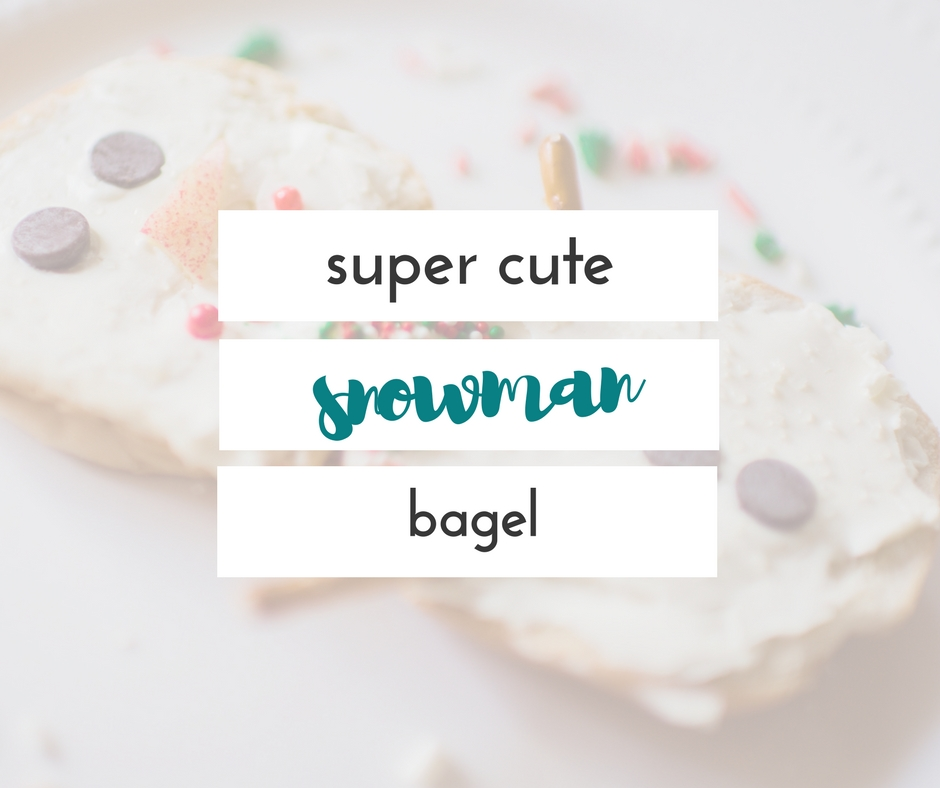 frosty the snowman activity- snowman bagels