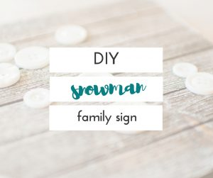 This sweet DIY snowman family sign is so cute, and would make a great gift for anyone! It was fun to make, and so simple.