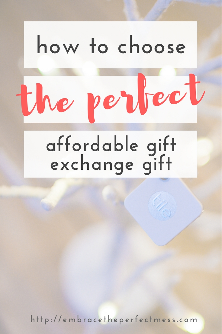 Figuring out how to choose the perfect, affordable gift exchange gift isn't always easy peasy. This post gives great ideas for how to find the right gift.