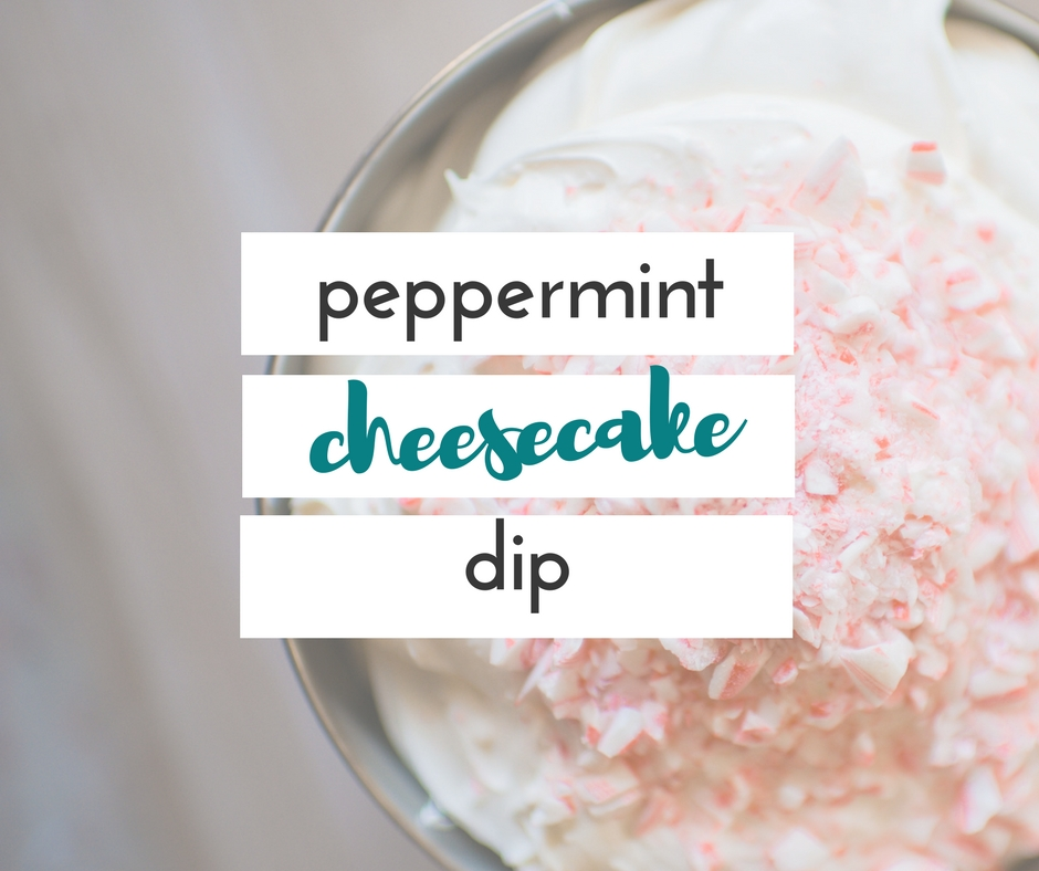 Peppermint cheesecake dip