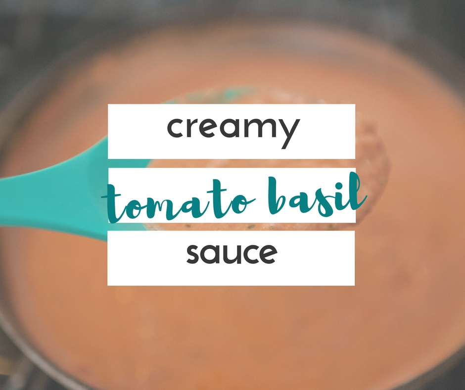 This creamy tomato basil sauce is so tasty, full of delicious ingredients, and still only takes 20 minutes to make.