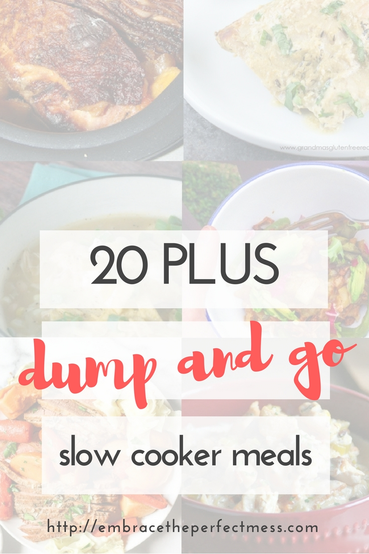 These slow cooker dump meals are perfect for busy nights when you have no time to cook. In just a couple of minutes in the morning, you could come home to a completely prepared meal!