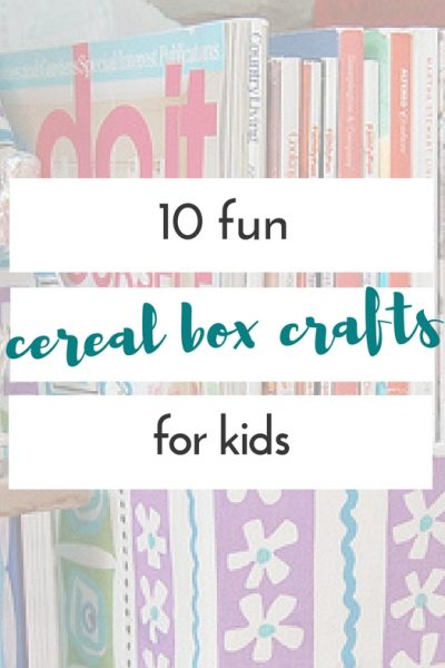 They are great cereal box crafts for kids or cereal box crafts for adults, and they're all pretty easy, quick, and definitely fun to make.