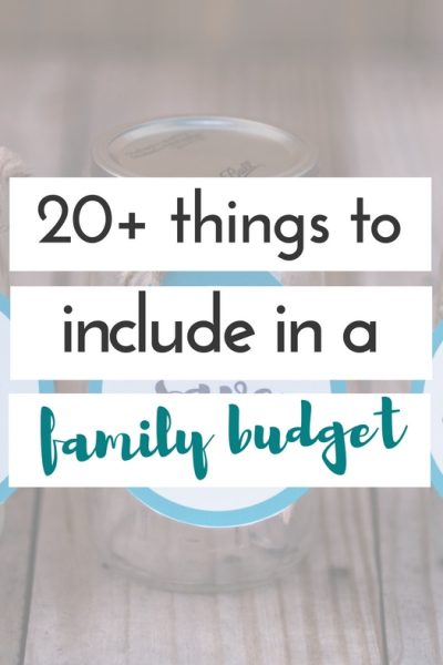 Creating a perfect budget isn't always easy.  I'm constantly working on trying to tweak ours.  Here are some important things to include in a family budget.