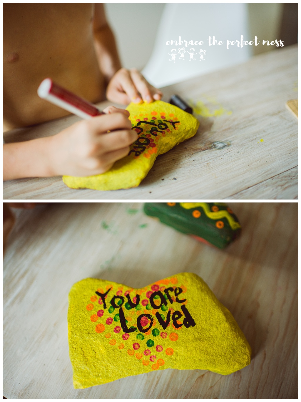 This is a great tutorial on how to make kindness rocks. I love this project!