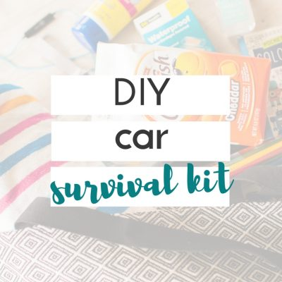 this diy car survival kit is perfect for all the days when you're running from one activity to the next!