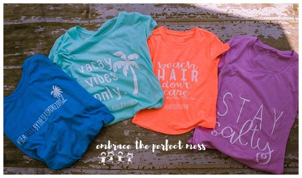 VINTAGE VACATION SHIRTS!! Vacay mode, Beach Hair, Stay Salty, *Custom Hashtag* w Palm Tree! $22 ea. SCREEN PRINT (NOT VINYL). These are CUSTOM shirts, please contact me for color requests. CUSTOM HASHTAG WILL BE ADDED TO YOUR SHIRT DESIGN. All designs are white or black. Womens fit tees, regular tees, kids shirts, or tanks. Message me or comment below. QUICK TURNAROUND. After order is placed email me at hello@embracetheperfectmess.com so we can discuss custom hashtag, and color choice, unisex/ women's shirt, and size. These shirts are custom made, and can be made in colors other than those pictured here.